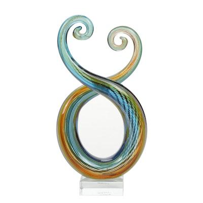 Handblown Murano Art Glass Sculpture