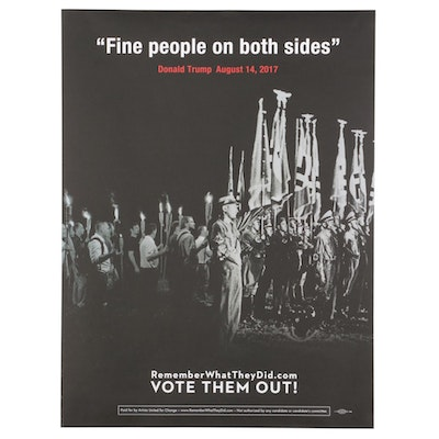 """Robert Russell for Remember What They Did Offset Lithograph """"Fine People"""""""