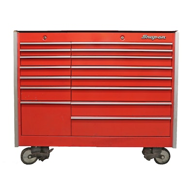 Snap-on 15-Drawer Tool Chest on Casters with Craftsman Wrenches and Other Tools