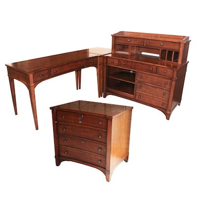 Hooker Furniture Four-Piece Desk Set with Lateral File