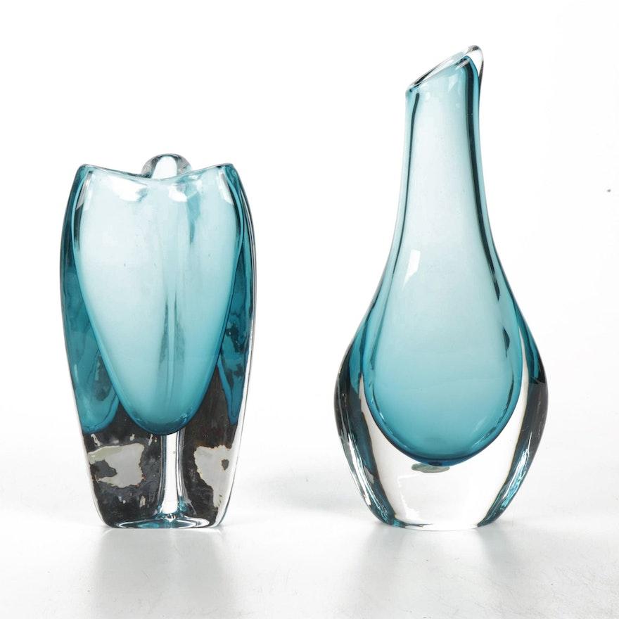 Smålandshyttan Art Glass Vases