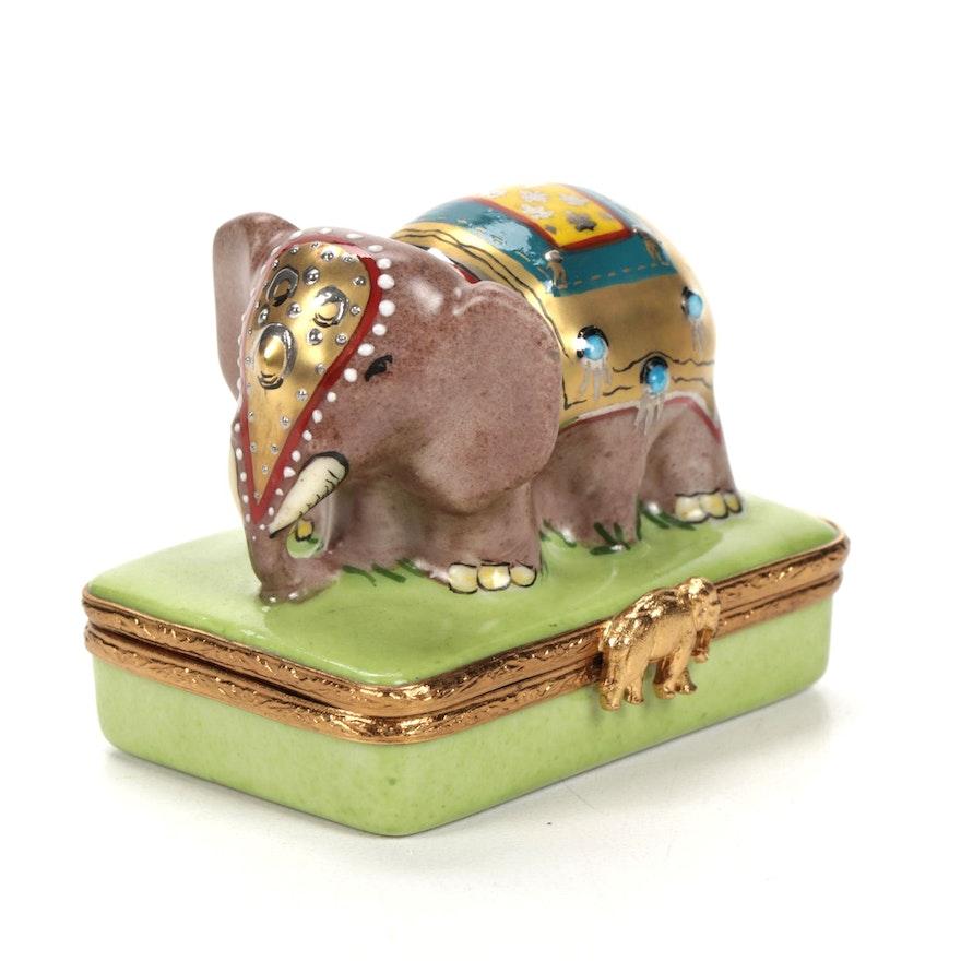 Eastern & Oriental Express Elephant Porcelain Limoges Box
