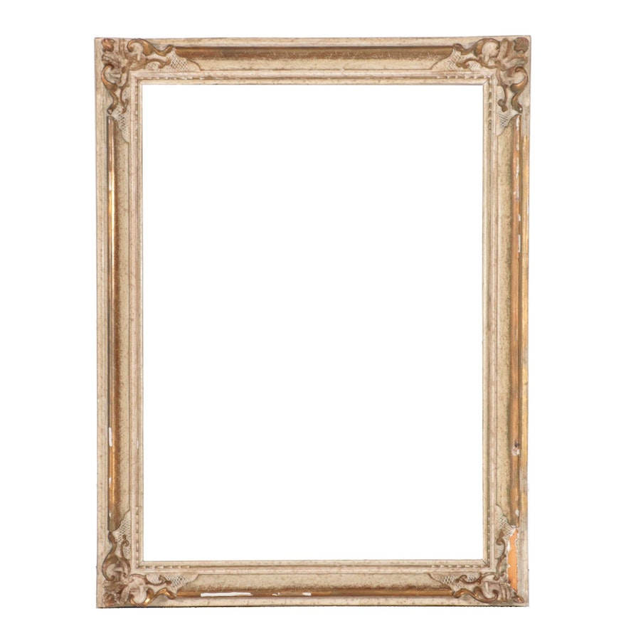 Rococo Style Cream-Painted and Parcel-Gilt Frame