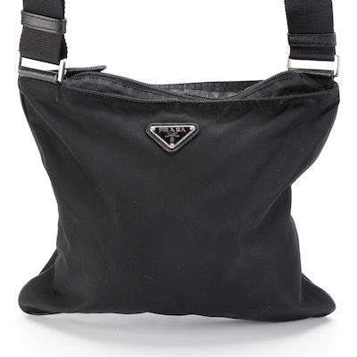 Prada Black Nylon Shoulder Bag