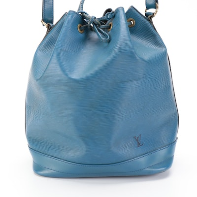 Louis Vuitton Noé in Toledo Blue Epi Leather and Smooth Leather