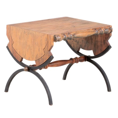 Reclaimed Wood and Metal Side Table