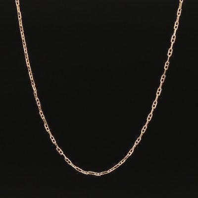 Italian 14K Anchor Chain Necklace
