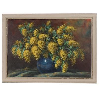 Alfio Paolo Graziani Still Life Oil Painting, Late 20th Century