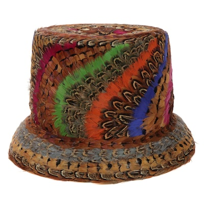 Fox Millinery Supply Feather Top Hat