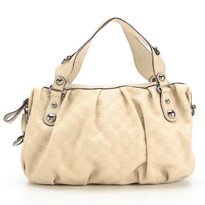 Gucci Icon Bit Boston Bag in GG Guccissima Leather with Detachable Strap