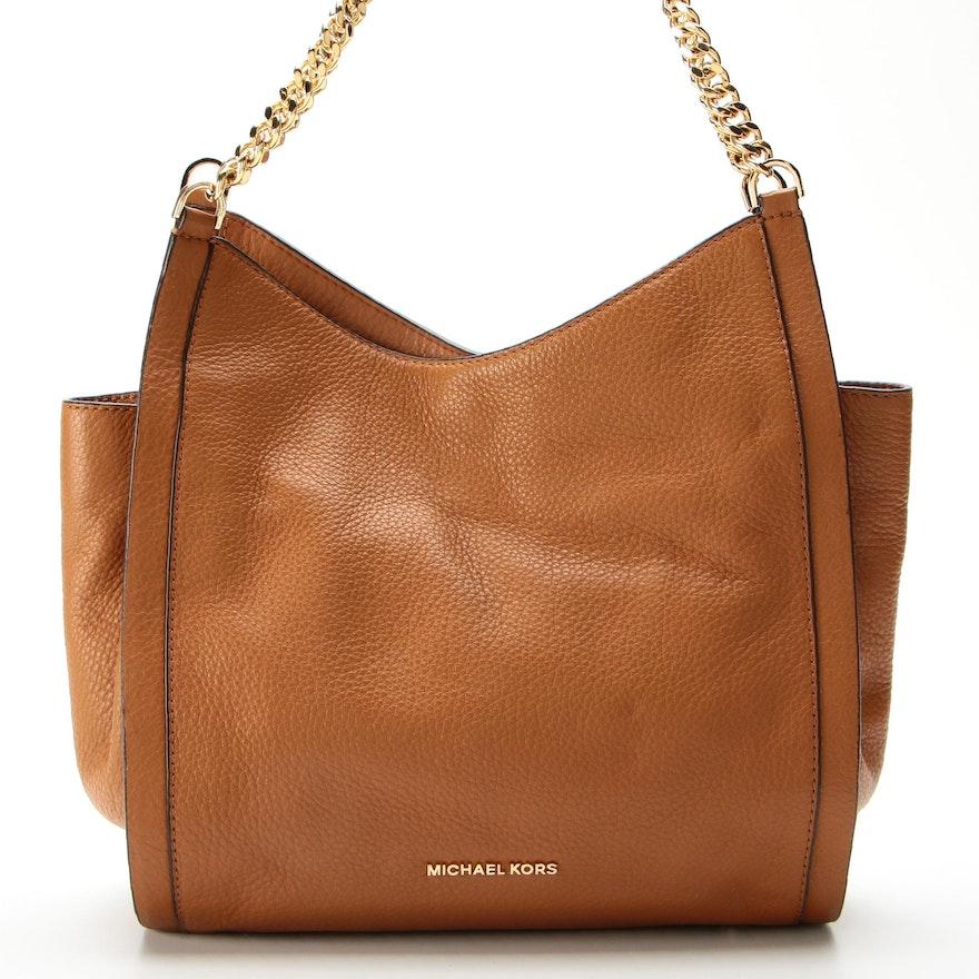 Michael Kors Shoulder Bag in Pebbled Leather