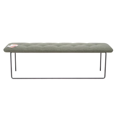 Article Tuft Upholstered Metal Bench