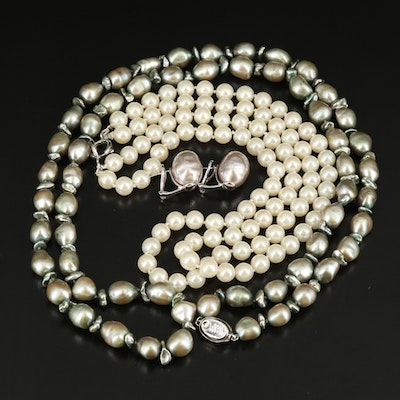 Honora Pearl and Faux Pearl Necklaces and Earrings