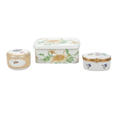 Tiffany & Co., Haviland and Georges Boyer Porcelain Limoges Boxes