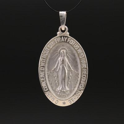 14K Miracelous Medal Pendant