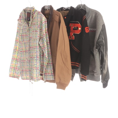 Men's Casual Jackets, Luxury Lane Canvas, Varsity Jacket and Steer Brand Wool