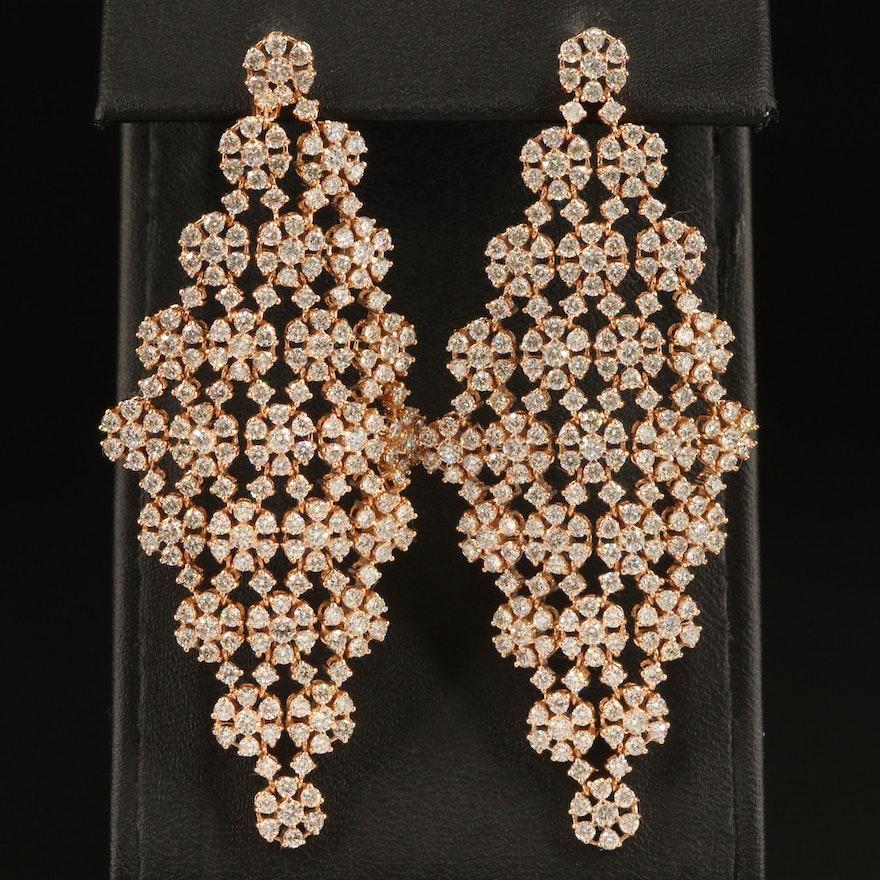 14K 11.17 CTW Diamond Chandelier Earrings