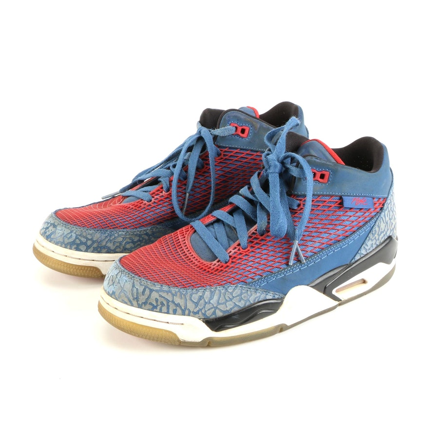 Men's Air Jordan Flight Club 80s 'True Blue' Basketball Sneakers