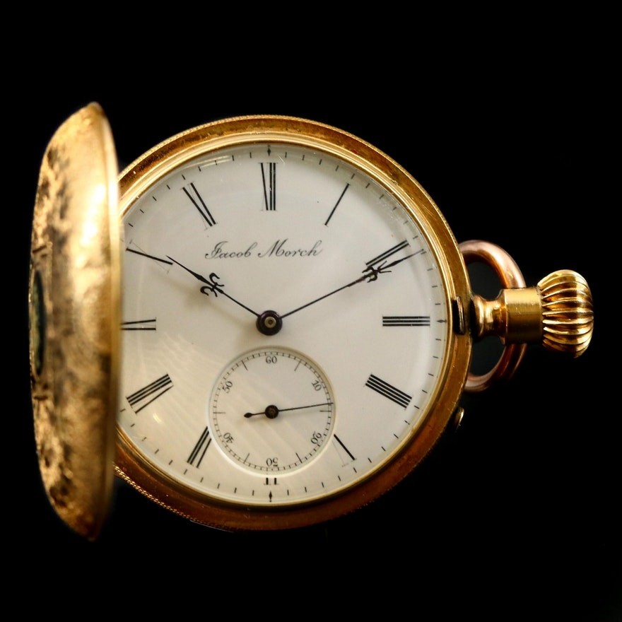 Jacob Morch Private Label 18K Taille D' Epargne Pocket Watch
