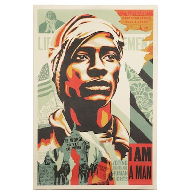 """Shepard Fairey Offset Print """"Voting Rights are Human Rights,"""" 2021"""