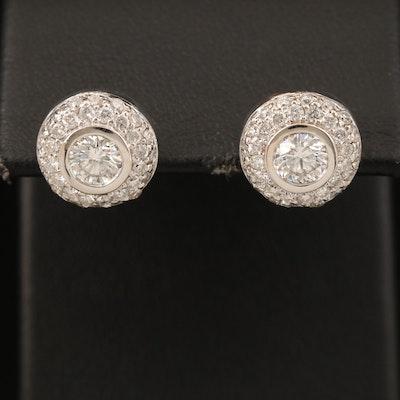 18K 1.96 CTW Diamond Earrings