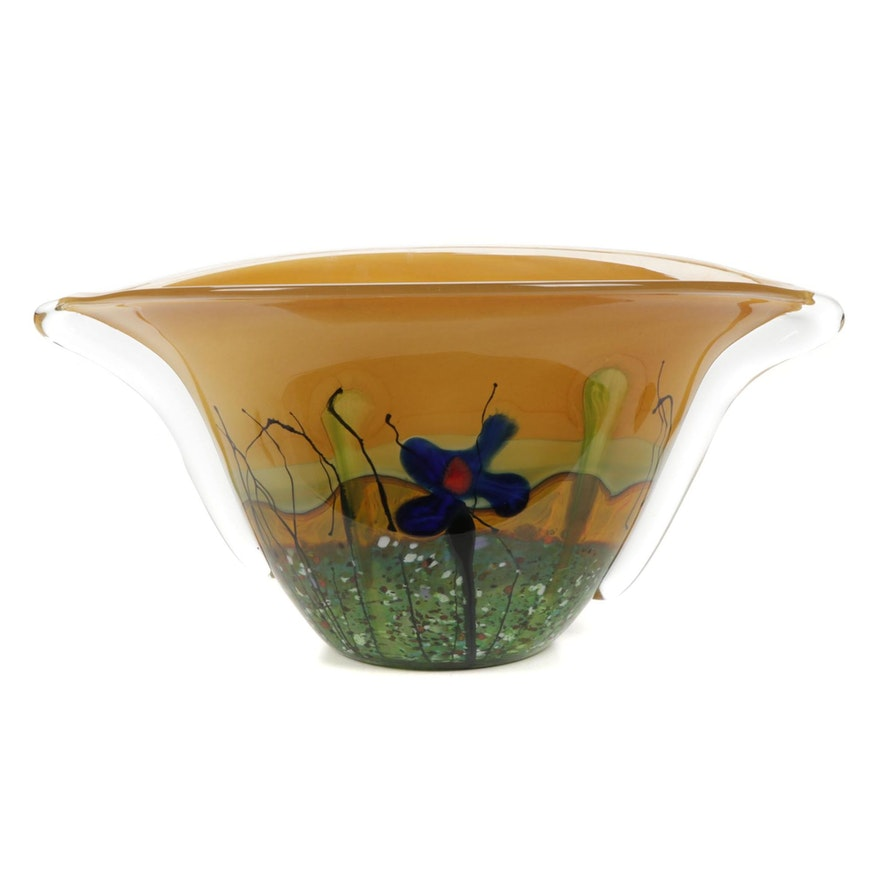 Mihai Topescu Romanian Art Glass Vase