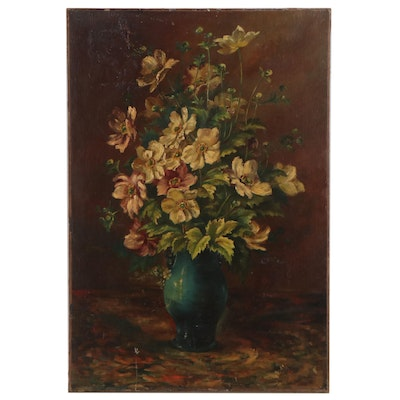 Still Life Oil Painting, Late 19th Century