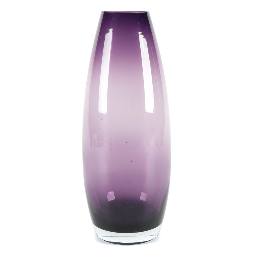 Handblown Purple Art Glass Vase