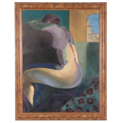 Offset Lithograph of Posing Female Nude, Circa 2000