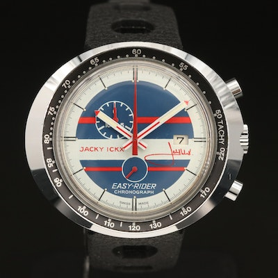 Vintage Jacky Ickx Easyrider Chronograph By Heuer