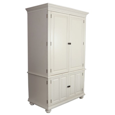 Contemporary Wooden Computer Armoire