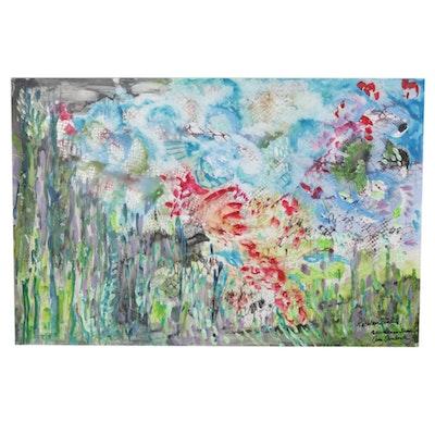 Phiris Sickels Collaborative Landscape Watercolor and Gouache Painting