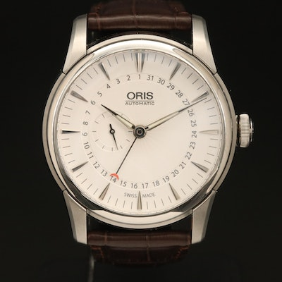 """Oris """"Artelier"""" Small Second Pointer Date Stainless Steel Automatic Wristwatch"""