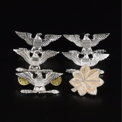 Sterling Lieutenant Colonel and Full Colonel Military Insignia