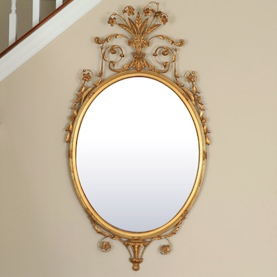 Carver's Guild Giltwood and Metal Crowned Accent Mirror