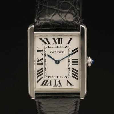 Cartier Tank Solo Stainless Steel Quartz Wristwatch