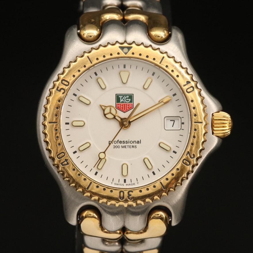 TAG Heuer S/eL Two Tone Stainless Steel Quartz Wristwatch