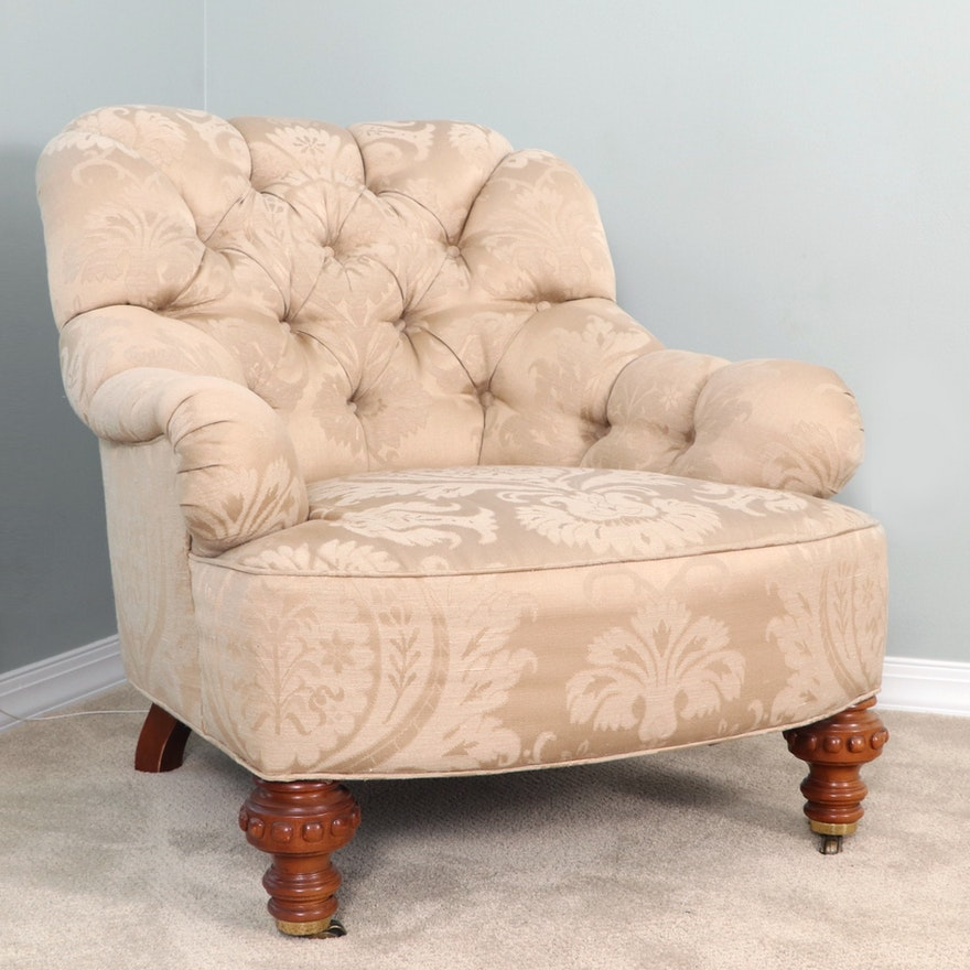 Baker Furniture Button-Tufted Upholstered Armchair