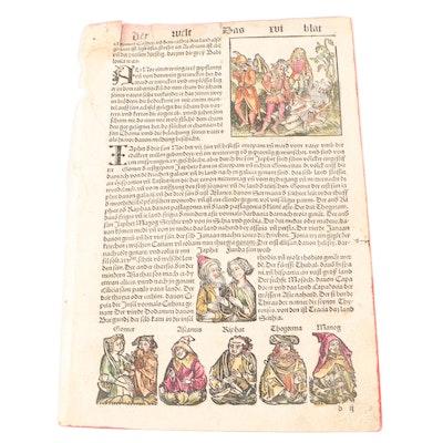 Nuremberg Chronicle Leaf, 1496