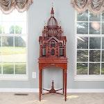 Maitland-Smith Mahogany Victorian Gothic Architectural Birdcage