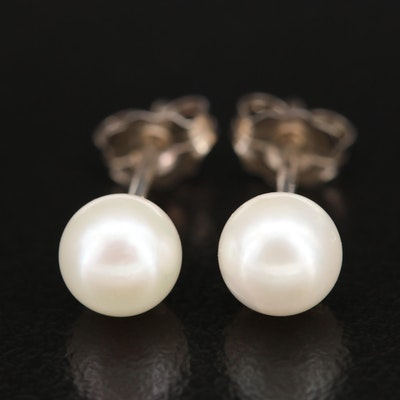 Sterling Pearl Stud Earrings