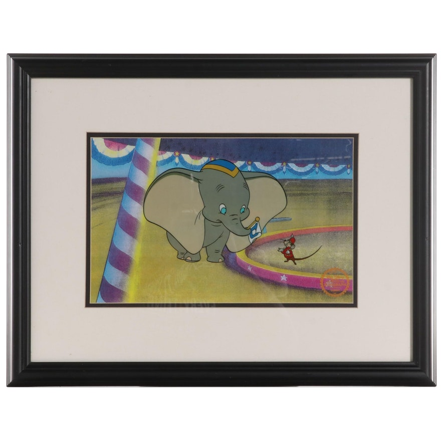 "Disney ""Dumbo"" Sericel of Dumbo and Timothy Q. Mouse, Circa 1985"