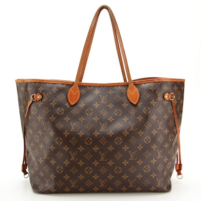 Louis Vuitton Neverfull GM Tote in Monogram Canvas and Vachetta Leather