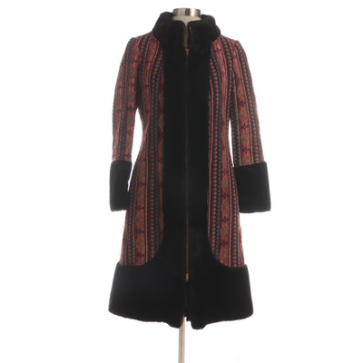 DeeDeeDeb Tapestry Coat with Faux Fur