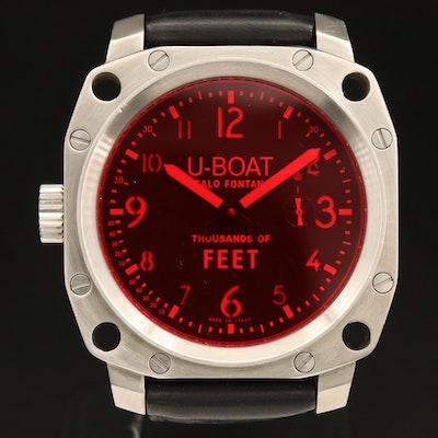 U-Boat Thousands of Feet Stainless Steel Stem Wind Wristwatch