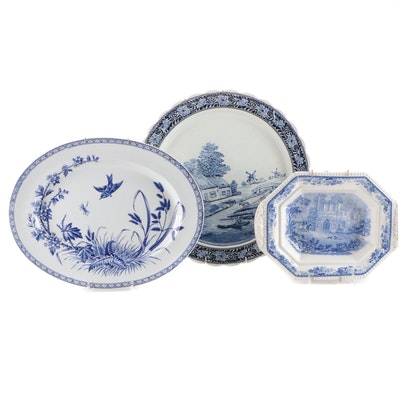 """Thomas G. Booth """"Hawthorn"""" and Other Blue and White Ironstone Tableware"""