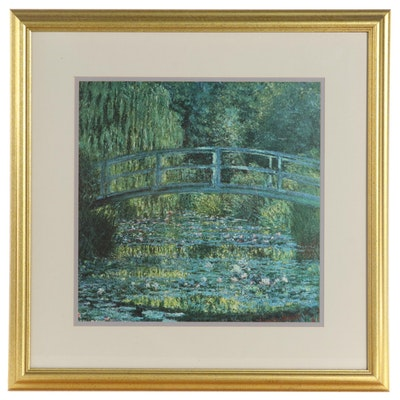 """Offset Lithograph After Claude Monet """"Water Lilies and Japanese Bridge"""""""