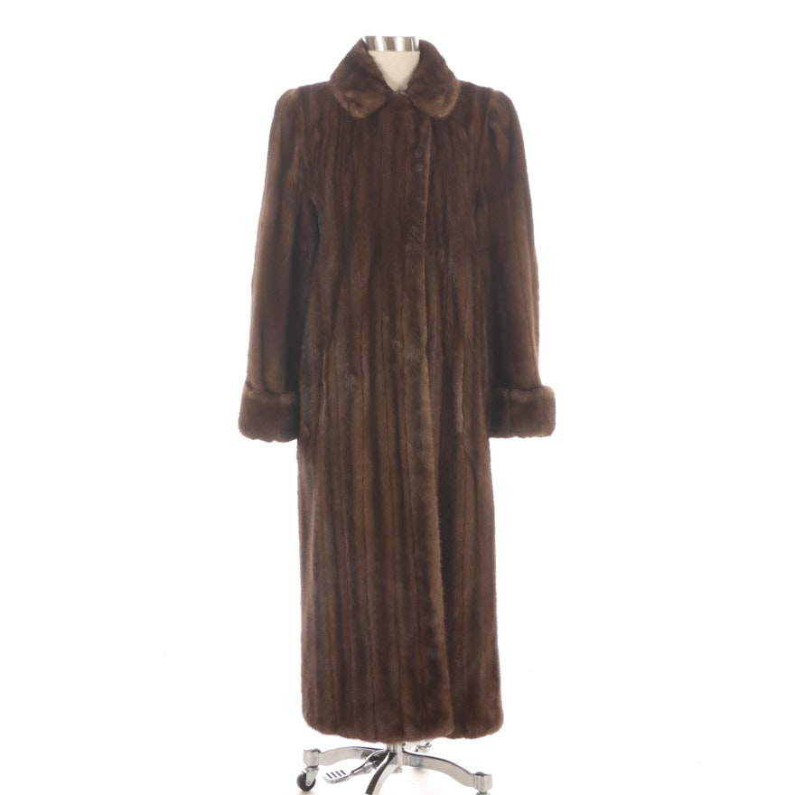 Mink Fur Full-Length Coat with Turned Back Cuffs from Elia