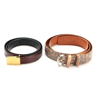 Tardini Lizard Skin Belt and Other Snakeskin Belt