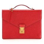 Louis Vuitton Porte Document Case in Castilian Red Epi Leather